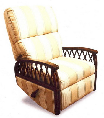 W Recliners on rattan rocking chair replacement cushions