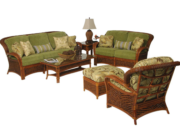 Wicker groupings for Wicker and rattan indoor furniture