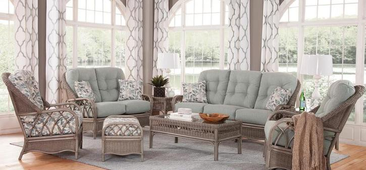 Wicker Living Room Furniture. Casual Living Wicker and Rattan Furnishings Home